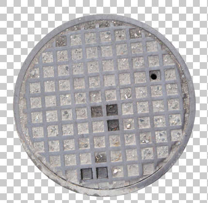 sewer lid manhole round big isolated