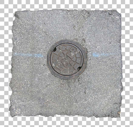 sewer manhole lid round small isolated