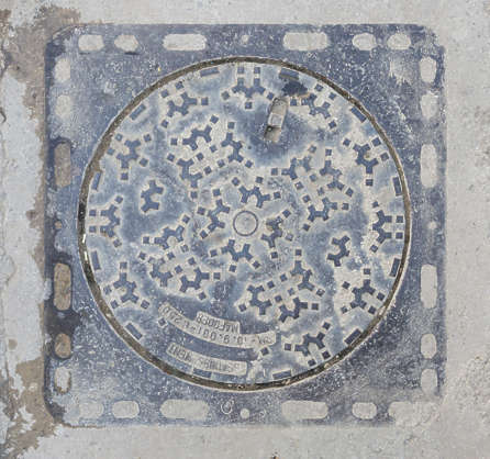 morocco sewer lid round square