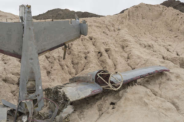 USA nelson ghost town ghosttown plane crashed wreckage movie prop bomber