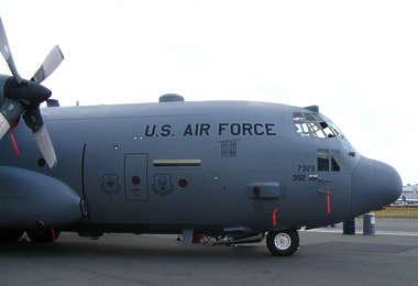 aircraft vehicle hercules transport cargo airplane