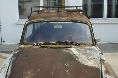 vehicle car old rust rusted opel