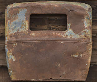 USA nelson ghost town ghosttown metal rusted corroded vehicle car wreck old classic back panel vintage