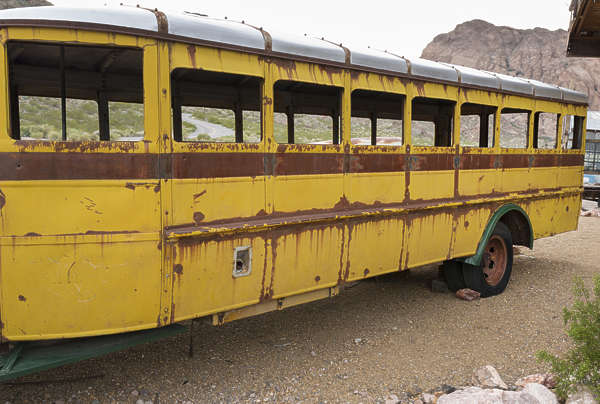 USA nelson ghost town ghosttown schoolbus bus old 40s american vehicle car wreck rusted classic vintage