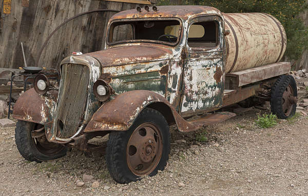 USA nelson ghost town ghosttown vehicle car 40s american truck cistern wreck old rusted classic tanker petrol vintage