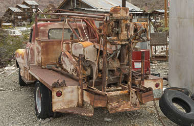 USA nelson ghost town ghosttown truck vehicle car wreck old rusted classic vintage firetruck fire