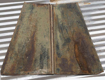 USA nelson ghost town ghosttown metal rusted corrosion corroded hood bonnet vintage