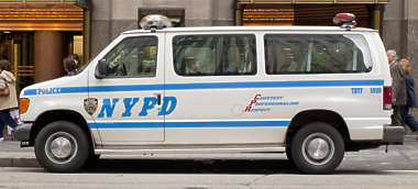 vehicle car new york nypd police department van truck