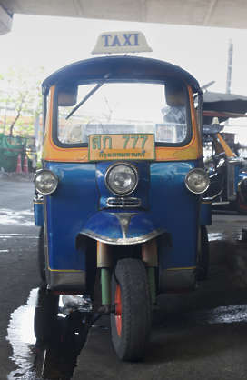 thailand bangkok asia asian vehicle taxi trike automobile car