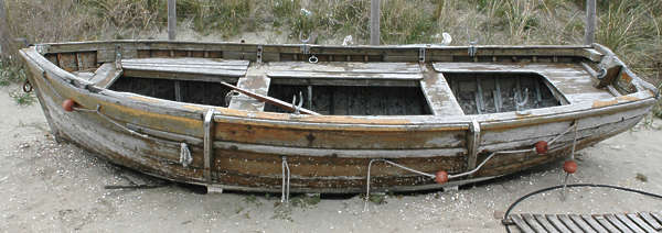 boat rowboat small wood old
