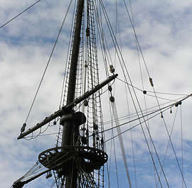 ship vehicle medieval old pirate rigging ropes