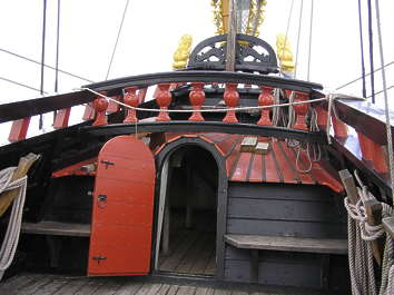 ship vehicle medieval old pirate deck