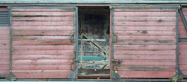 train vehicle wood door planks