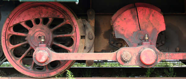 train wheel old