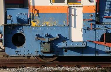 train vehicle small locomotive diesel engine