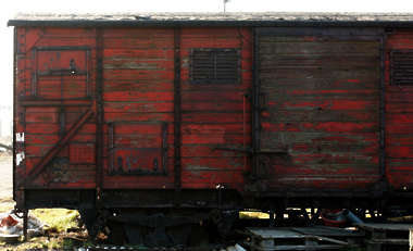 vehicle train cargo box cart boxcar old