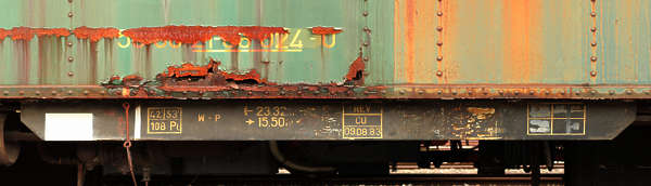 metal rust leaking train reference