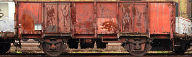 train boxcar cargo side rust old