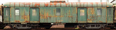 vehicle train carriage rusted