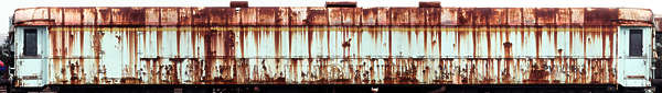 vehicle train carriage rusted leaking rust