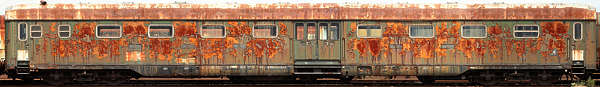 vehicle train passenger old carriage rusted
