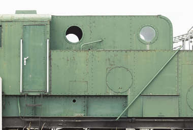 metal plate plates painted train