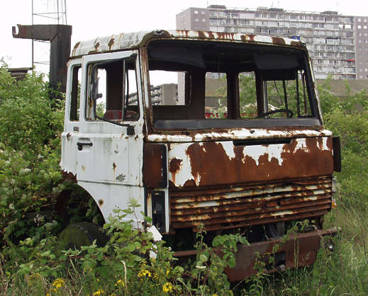 vehicle truck old rusted
