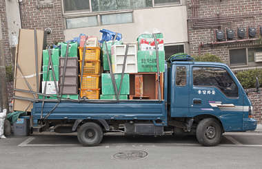 south korea truck old vehicle cargo