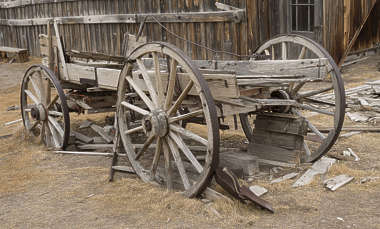 USA Bodie ghosttown ghost town old western goldrush desert arid carriage