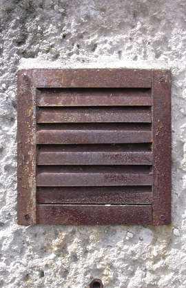 vent ventilation grate rust old
