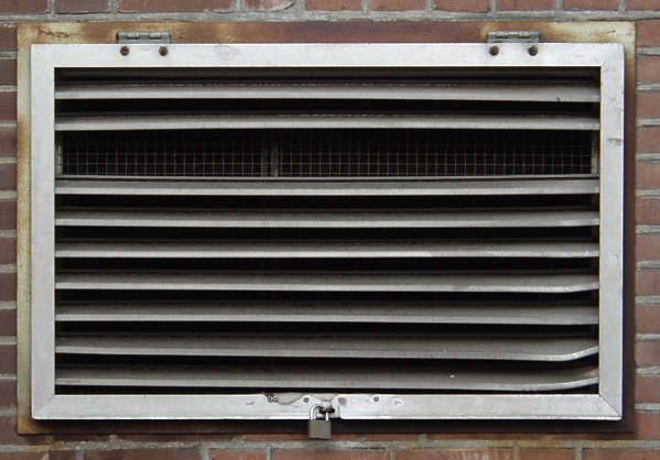 vent ventilation grate metal damaged