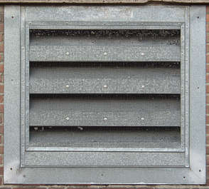 vent ventilation grate metal galvanized isolated