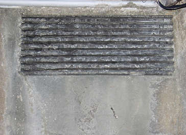vent ventilation grate metal dirty leaking old