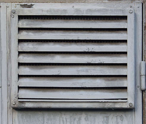 vent ventilation grate metal painted dirty