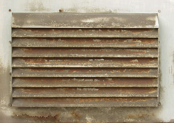 vent ventilation grate metal dirty rust