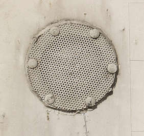 vent ventilation grate metal round painted