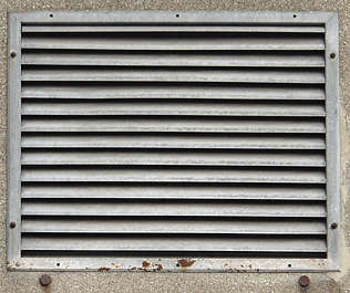 vent ventilation grate metal galvanized clean