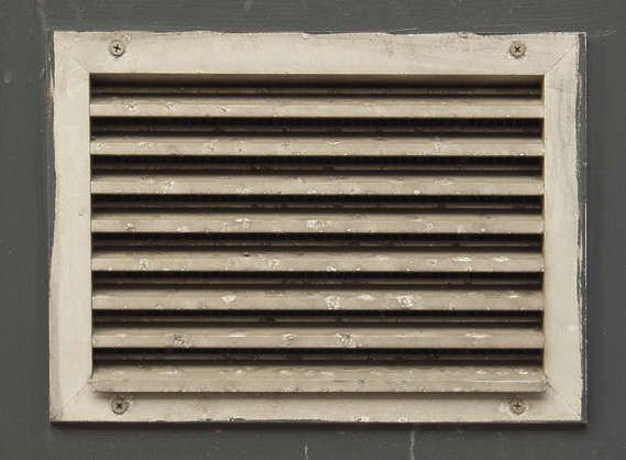 vent ventilation grate metal dirty isolated