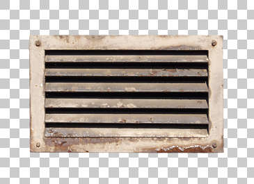 vent ventilation grate metal rust painted dirty isolated