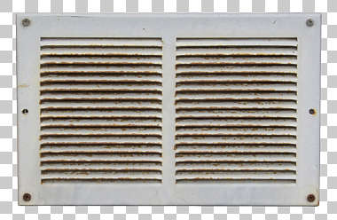 vent ventilation grate metal rust isolated