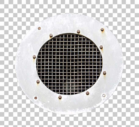 vent ventilation grate metal round isolated