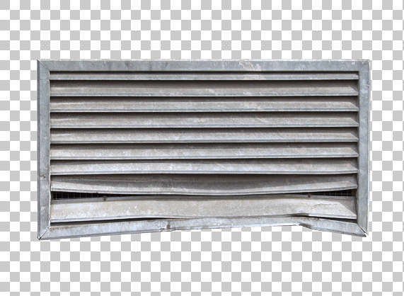 vent ventilation grate metal clean damaged isolated