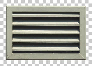 vent ventilation grate metal damaged painted isolated