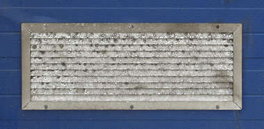 vent ventilation grate metal dirty corrosion isolated