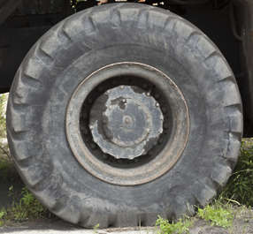 wheel tire rubber old