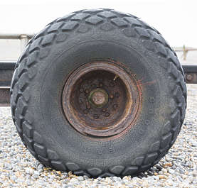 UK wheel tire old rusted tractor thread rubber