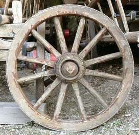 wheel wood cart medieval
