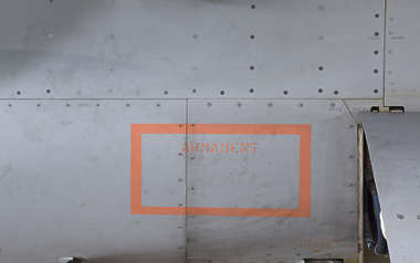 aircraft metal F16 panel armament militairy airplane