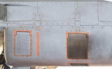 aircraft metal militairy panel exhaust panels airplane