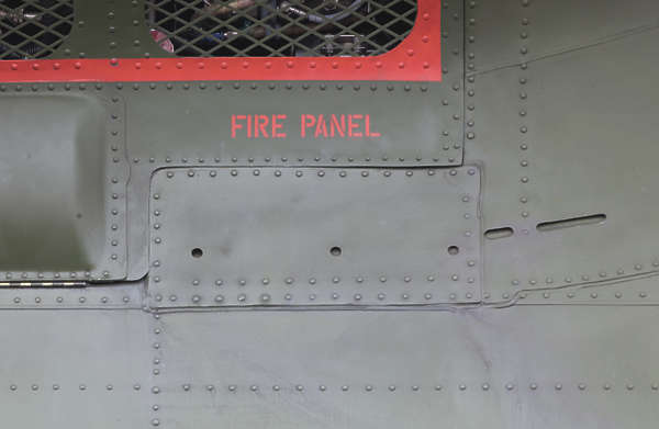 aircraft panel rivet rivets chinook helicopter metal hatch fire panel